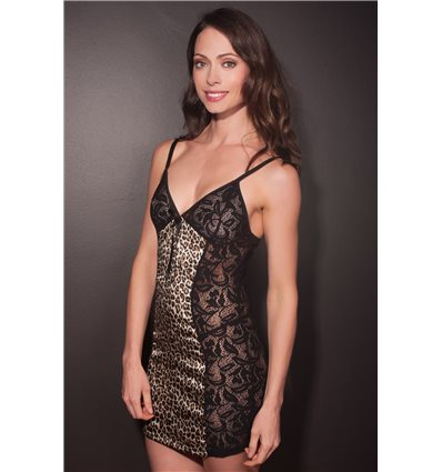 Lingerie Letters Black and leopard Nightie
