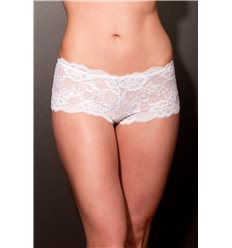 Lingerie Letters White Boy short